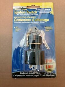 Boat Ignition Key Switch Push to Choke Mercury Outboard Off-On-Start 6 Terminals