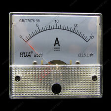 DC 20A Analog Ammeter Panel AMP Current Meter 85C1 0-20A DC Doesn't Need Shunt