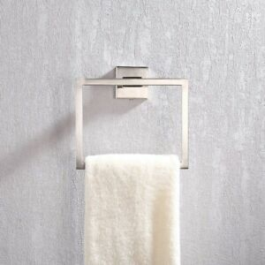 Contemporary Wall Mounted Square Towel Ring Hanger Towel Holder Stand