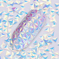 0.7g AB Color Nail Sequins Chameleon Triangle 3D Nail Art Tips DIY Decoration
