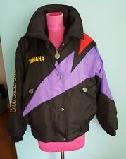 Women's Yamaha Winter Bomber Jacket Vintage black purple Size M/L