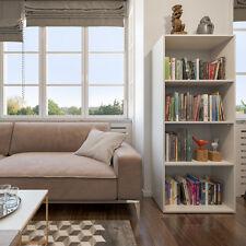 Étagère Bibliothèque Étagère debout Classeur livres Cabinet 155x60cm Blanc