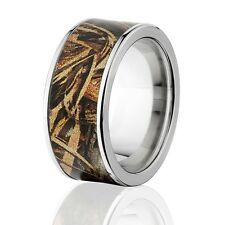 Official Licensed RealTree Max 5 Titanium Ring, Camo Wedding Bands