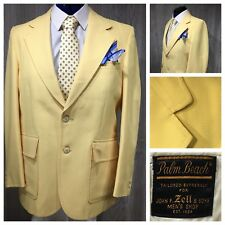 PALM BEACH Polyester Sportcoat Blazer Yellow 40's or 50's Vintage 42R NICE!!!
