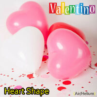 25 pk Red & White Heart Shape Balloons Valentines Special Decorations baloons