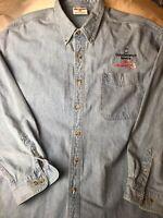 Dale Earnhardt Sr #3 Chase Blue Denim Embroidered Shirt NASCAR Sz 2XL Goodwrench
