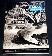 ADAC-Motorwelt 02/58 Test Fiat 500, Müdigkeit am Steuer, Reise, Winter-Tips,Mode