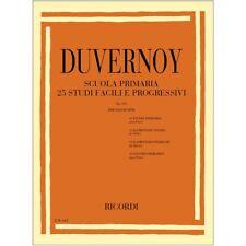 Duvernoy Ricordi Scuola Primaria 25 Studi Facili e Progressivi