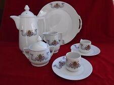 Porcelaine de Baudour, service à café ancien Defuisseaux, Frameries 1917