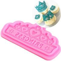 Crown Princess Fondant Cake Mold Sugarcraft Decorating Baking Mould Pro.