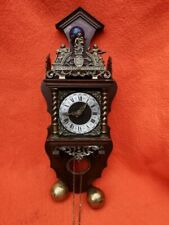 More details for vintage atlas clock with two brass weights
