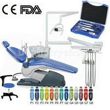Dental Unit Chair Hard Leather Computer Controlled DC Motor&Stool+Handpiece Kit