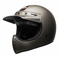 Casque moto cross vintage BELL Moto-3 independent mat titanium