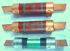 3 X VTG 1960s 250V 100A ONE TIME FUSES- BUSS DE59-80, ROYAL TP-69 AS IS UNTESTED