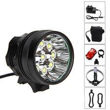 18000Lm 9X XML T6 LED Linterna Frontal Luz Cabeza Bicicleta Headlight Ciclismo