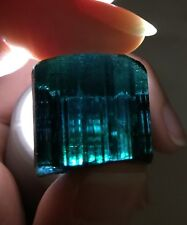 99 Ct.~ Large Gem Indicolite Blue Tourmaline Crystal Facet Rough ~ Afghanistan