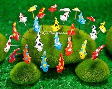 50 Pcs Miniature Dollhouse Fairy Garden Accessories Terrarium Tiny Koi Fish #3