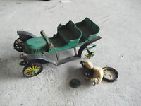 Vintage 1960s Revell Action Miniature Green Model Car with Driver