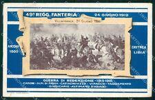 Militari 49º Reggimento Fanteria Villafranca 1915 1918 cartolina XF4993