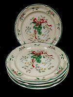 4 Dinner Plates Marmalade Christmas Inter-national Tableworks Japan Ducks Geese