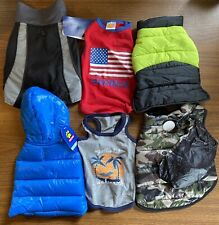 New listing Dog Clothing Size Small Lot of 6 Male Shirt Coat Jacket Fall Winter Apparel