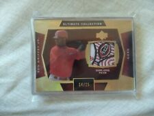 2003 ultimate collection KEN GRIFFEY JR game used Reds Logo patch #/25