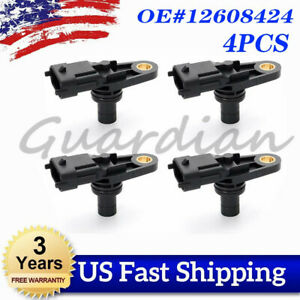 4x Engine Camshaft Position Sensor 12608424 For Chevrolet GMC Pontiac Cadillac