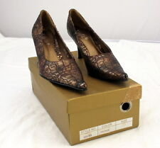 Kiufit Womens High Heel Shoes Style 035-8B Bronze Size 6 New