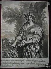 Maius mese Maggio Suyderhoef bulino originale 1650 May M