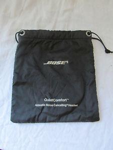 Genuine Bose Quiet Comfort QC1 25 & 35 Headphone Carrying Case Nylon Bag Black
