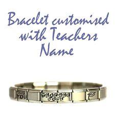 JSC Italian Charm Bracelet Personalised TEACHER GIFT