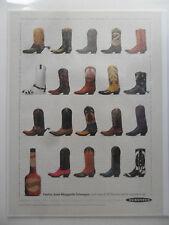 1991 Print Ad Dekuyper Cactus Juice Margarita Schnapps ~ Western Cowboy Boots