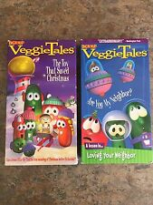 VHS Veggie Tales THE TOY THAT SAVED CHRISTMAS & ARE YOU MY NEIGHBOR? videos 1998