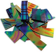 90 COE 1/4lb. Tie Dye Thin 2mm Thickness Black Dichroic Scrap Bag by Austin