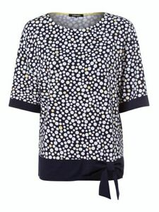 Olsen Top Size 10 BNWT Navy White Spot With Tie RRP £69 Now £30