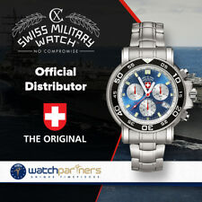 CX SWISS MILITARY NAVY DIVER 500 WATCH SWISS RONDA CHRONO MOVEMENT BLUE