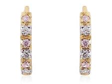 0,12 Cts Runde Brilliant Cut Natürliche Diamanten Creolen In Feines 18K Gelbgold