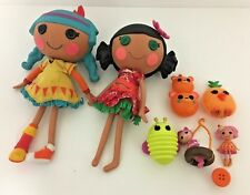 LalaLoopsy Large Feather Tell-A-Tale & Tiki Hawaiian Girl Doll Figure Bundle!