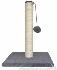 Quality 40cm Cat Kitten Scratching Post fluffy play ball on string by Pawprints