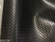 2M RUBBER FLOOR MATTING CHECKER PLATE ANTI SLIP - PLAYGROUND 1.5m(W) x 3mm THICK