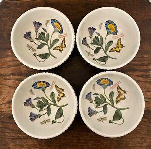 """Set of 4 Portmeirion Botanic Garden Soup Cereal Bowls- Trailing Bindweed - 5.5"""""""