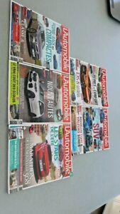 Lot  5 magazines L'automobile année 2018,