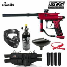 Maddog Azodin Kaos 3 Silver Hpa Paintball Gun Marker Starter Package Red / Black