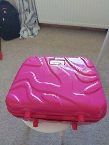 Antler Cerise pink Cosmetic Vanity Hard Carry Case Travel Overnight Weekender