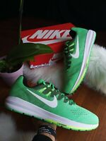 SIZE 15 MEN'S NIKE AIR ZOOM STRUCTURE 20 GREEN WHITE RUNNING SHOES 849576 301