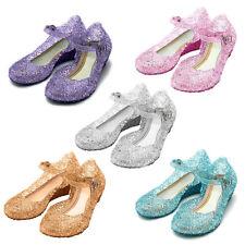 Kids Girls Frozen Princess Elsa Dress Party Facny Sandals Crystal Jelly Shoes