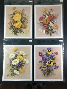 Vintage Robert Laessig 1971 Lot of 4 Lithograph 3-117 3-118 3-119 & 3-120 11 x 9