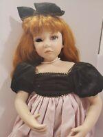 """Geppeddo """"Madison"""" Porcelain Doll (missing an eye)"""