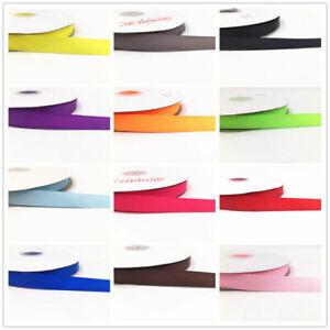10-100Yard 1'' 15MM Solid color Printed Grosgrain Ribbon Hair Bow Sewing Ribbon