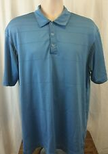 NIKE DRY FIT LARGE POLO GOLF  SHIRT BLUE